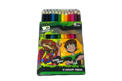 BEN 10 GOING HERO 12PCS SHORT COLOR PENCIL